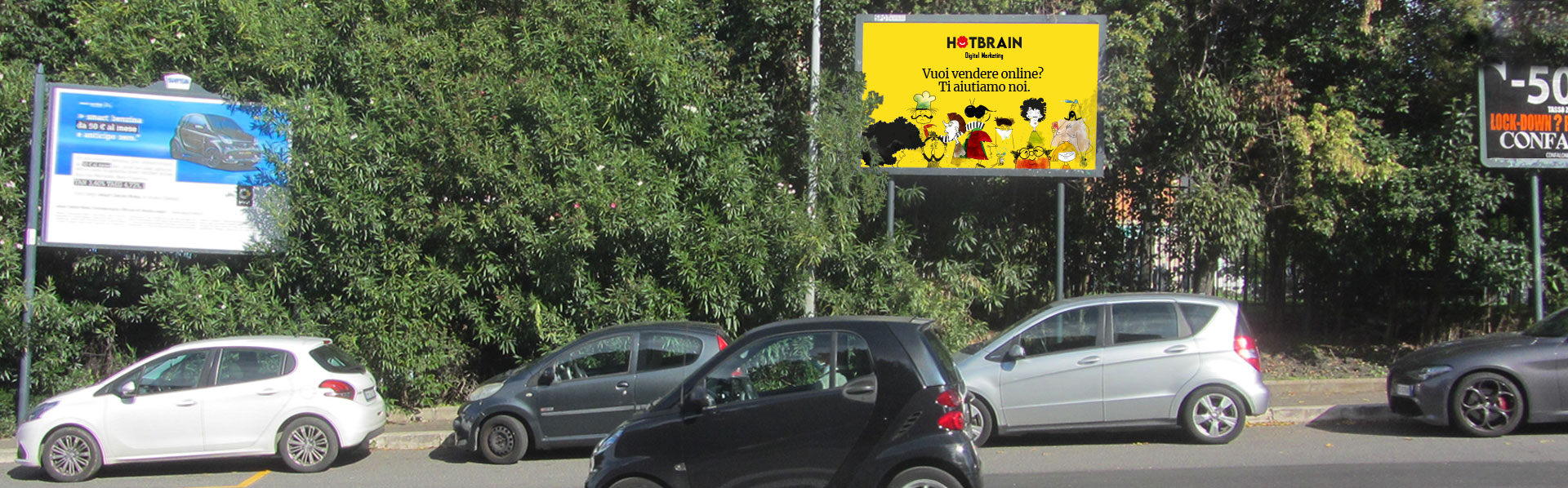 Hotbrain pubblicità Roma